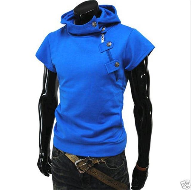 2014 весной мода новый короткий рукав толстовки кофты, Верхняя одежда толстовки одежда мужчин. Летние спортивный костюм падения и бесплатная доставка