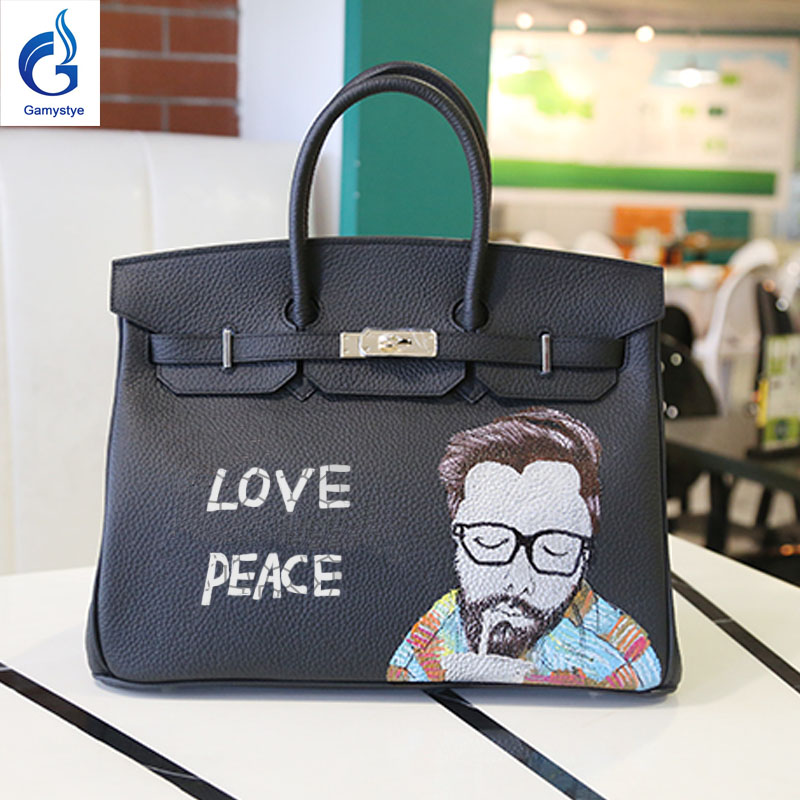 Korean fashion Graffiti Custom bags handbags Women luxury Hand Painted painting Graffiti totes Female blose women leather bags rock skull graffiti custom bags handbags women luxury bags hand painted painting graffiti totes female blose women leather bags