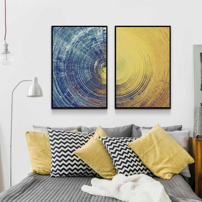 Yellow Circle Wall Art Canvas Paintings