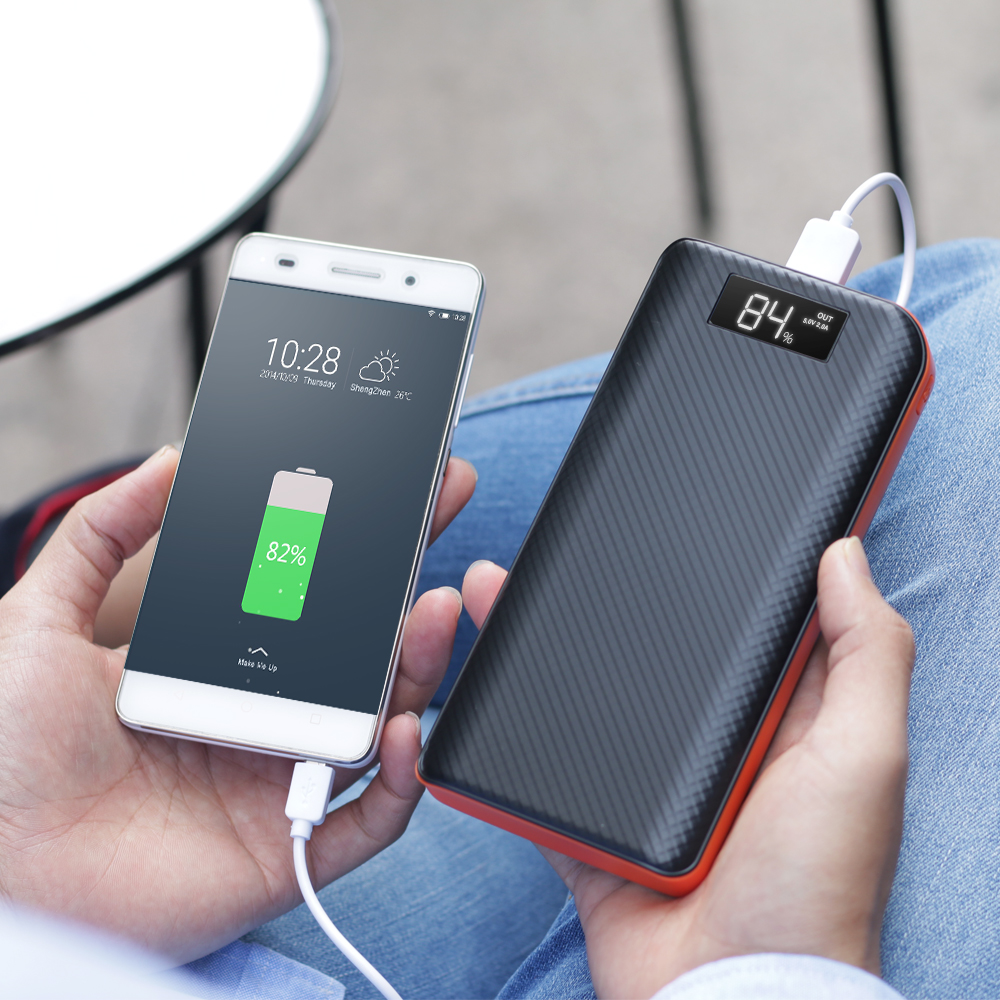 Powerbank 20000 mAh 3 Usb Power Bank LCD Display Battery for Huawei Xiaomi iPhone Samsung LG Sony HTC Bluetooth Speaker etc.