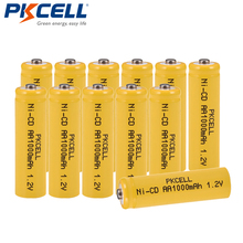 12Pcs lot PKCELL Ni-CD 1 2V AA Battery 1000mAh Rechargeable Batteries 1 2 Volt 2A Batteries button top for flashlight Lawn lamp cheap AA Rechargeable Battery Batteries Only Guangdong China (Mainland)