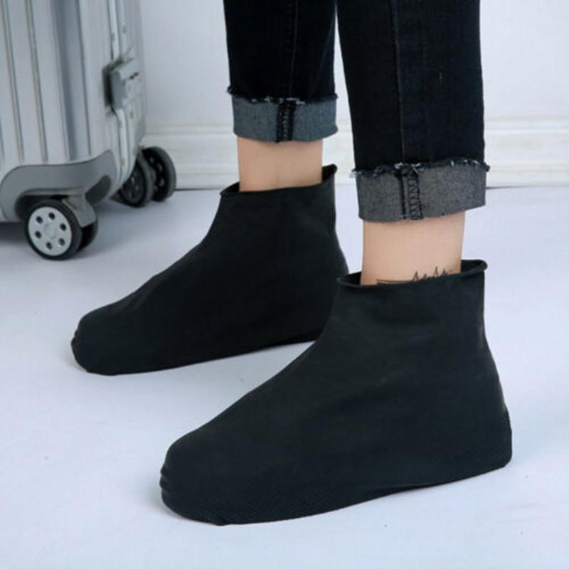 1 Pair Anti-slip Reusable Latex Shoe Covers Waterproof Rain Boot Overshoes Shoes New