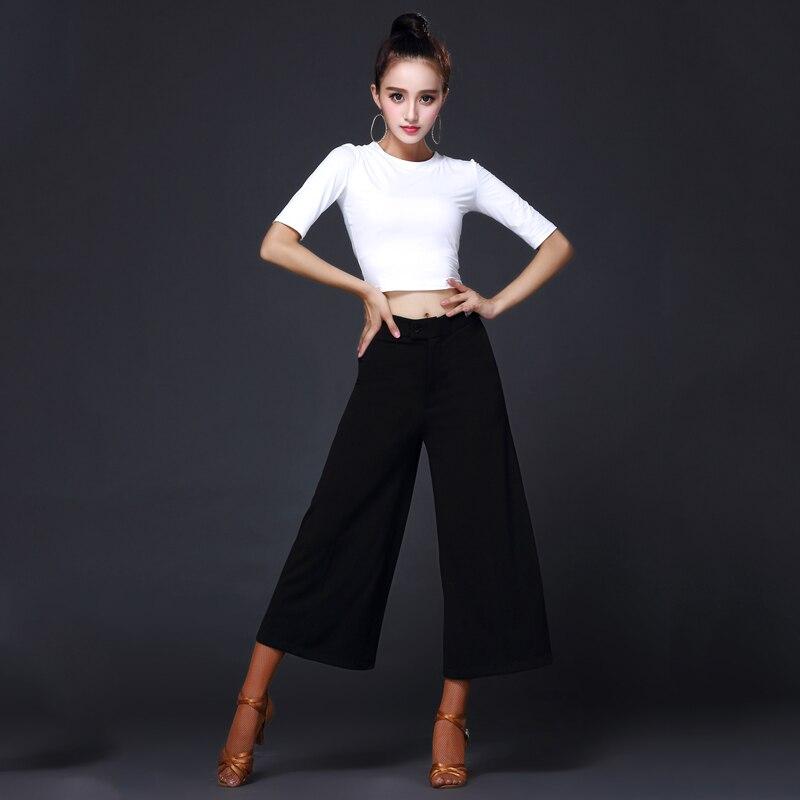 2016 Hcdance Latin dance trousers Women dance costumes bottoms high waist Salsa Tango Rumba flamengo Ballroom hot sale A251