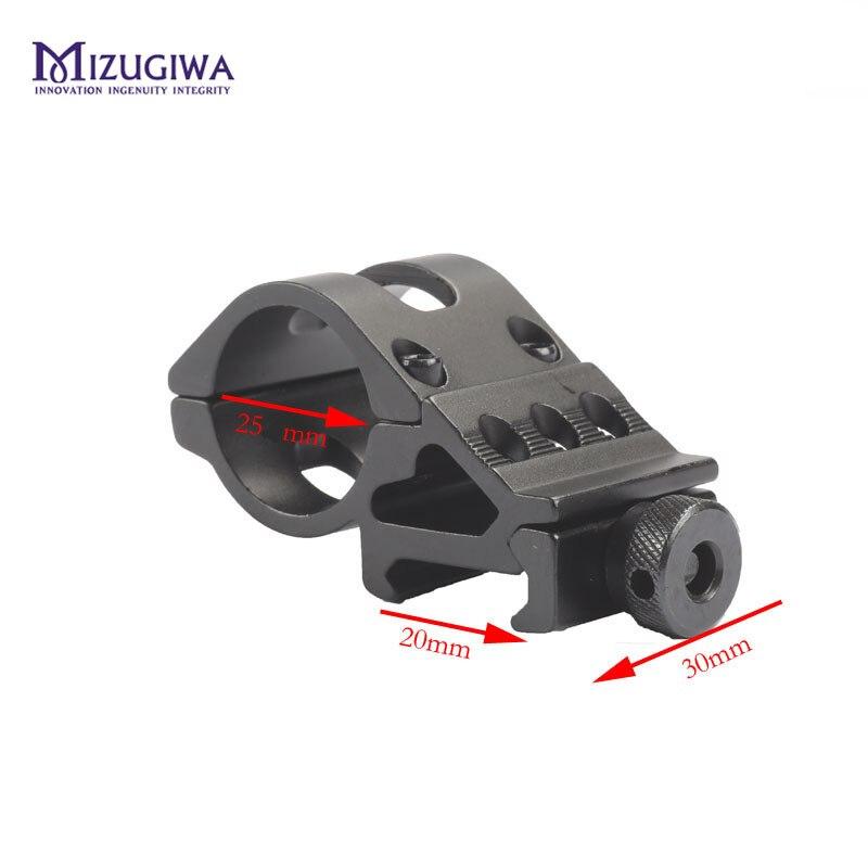 MIZUGIWA 1 Inch 25mm / 30mm Offset Flashlight Torch Laser Rifle Scope Mount Weaver 20mm Picatinny Rail Gun Base Hunting Caza