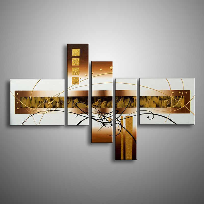 Decoración de pared pintura al óleo moderna pintura al óleo sobre lienzo pintura abstracta arte pop blanco negro Pinturas Modernas baratas XD5-024