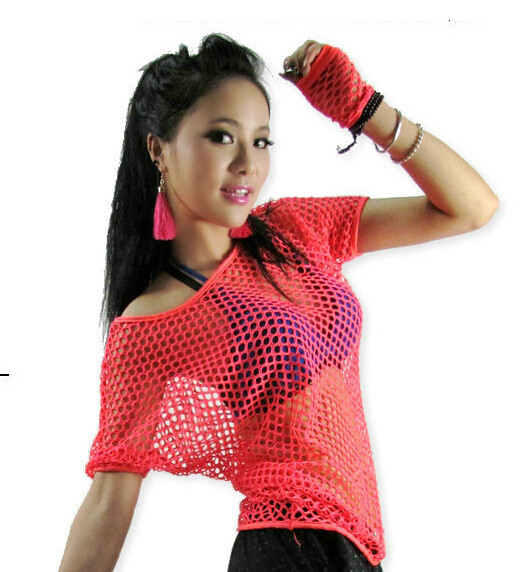 69ea98a920da Kids Adult Hollow out hip hop top dance see through Jazz costume ...