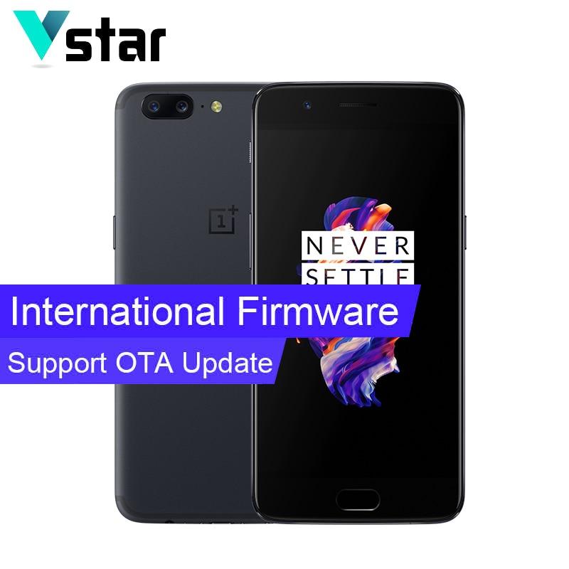 "International Firmware Oneplus 5 6GB RAM 64GB ROM 5.5"" Snapdragon 835 Octa Core 3300mAh Two Back Cameras OTA Update Smartphone"