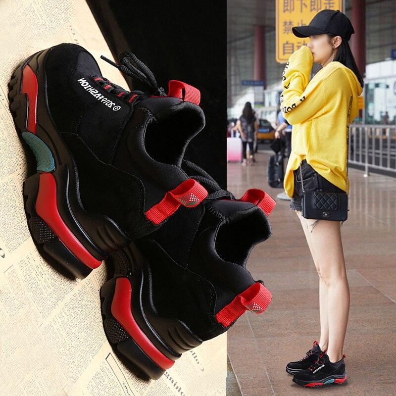 Le Sport De Nouvelle Plus Velours 1 Vieux Harajuku Ulzzang 2018 Hiver Version Augmenté Sauvage 2 Femme Coréenne Chaussures HtwHYrq7