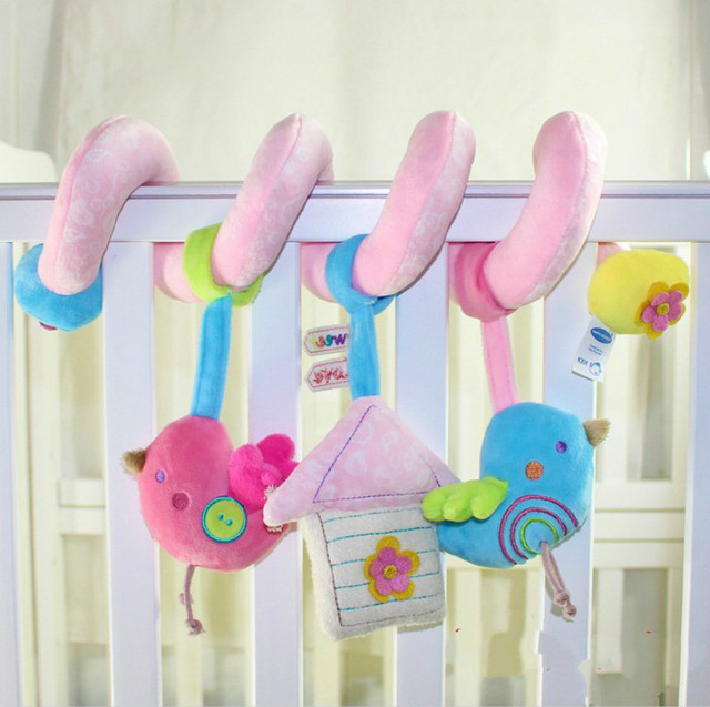 0M+ Baby Bird Rattle Toys mobile Crib Stroller Car Bed Toy juguetes bebes jouet brinquedos enfant cadeau gift
