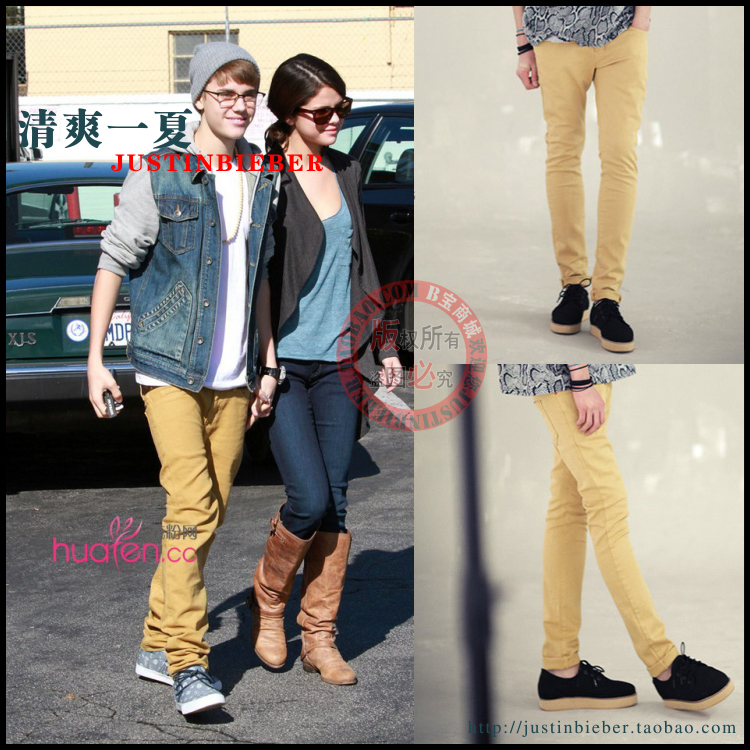 2012 Justin Bieber Trousers Spring And Summer Male Casual Pants