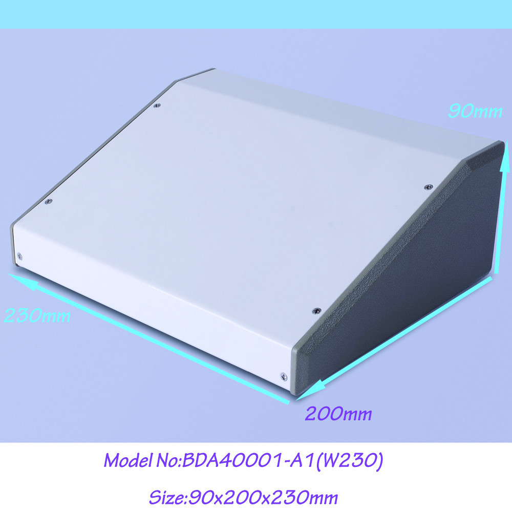 1pcs 90x200x230mm steel enclosure box for electronic extruded metal project enclosure aluminum project box white