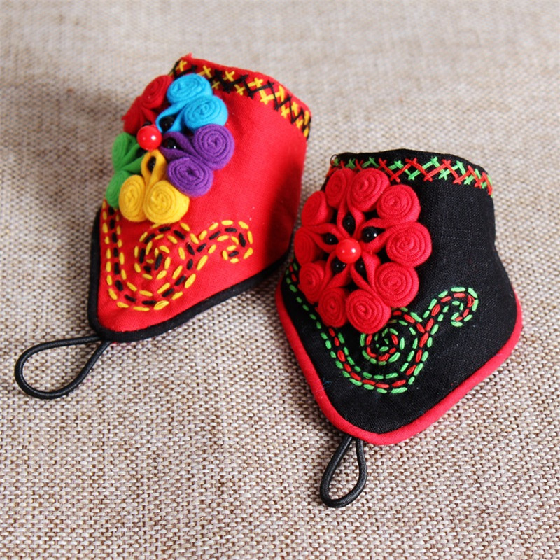 Ethnic Wind Embroidery Bead Fingerless Gloves Fashion Joker Bracer Bracelet Dance Jewelry For Women 09