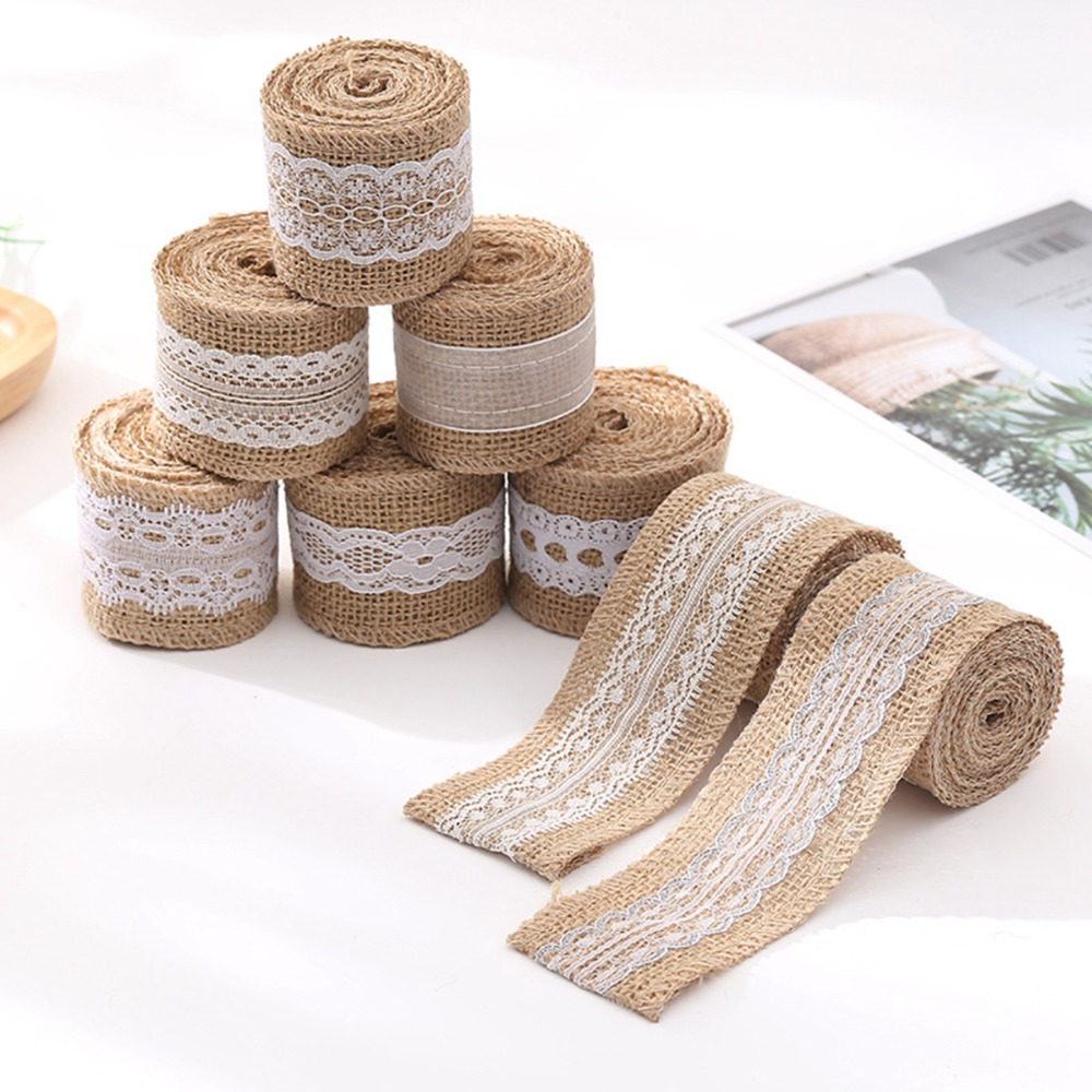 Diy Burlap Wedding Ideas: Roll Natural Jute Burlap Hessian Ribbon Vintage Party