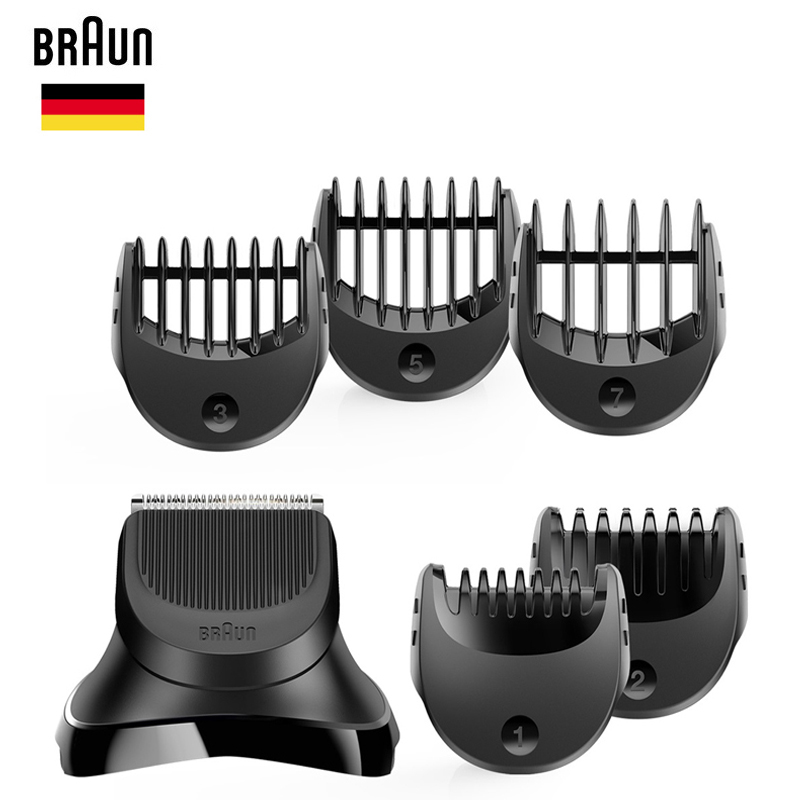 Braun Series 3 Shaver Beard Trimmer Head 1pc+5 Combs BT32 Shave Style Stlying Head Electric Shaver Razor Blade Replacement Heads
