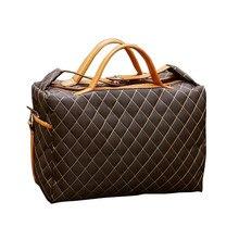 2017 mode Vintage Reisetasche für Männer Polyester Gitter Duffle tasche Hand Gepäck Business Reisetaschen Totes sac de voyage L479