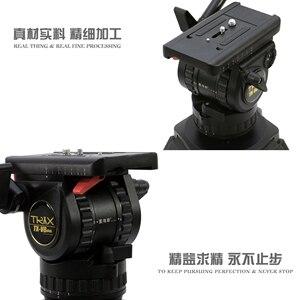 Image 3 - TERIS TX V8 زائد حامل ثلاثي القوائم احترافي رأس السوائل مع 75 مللي متر وعاء تحميل 8 كجم ل DSLR BMCC C300 فيلم كاميرا فيديو اطلاق النار