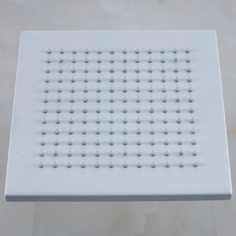 Wholesale And Retail White Color 8 Square Rainfall Shower Head Solid Brass