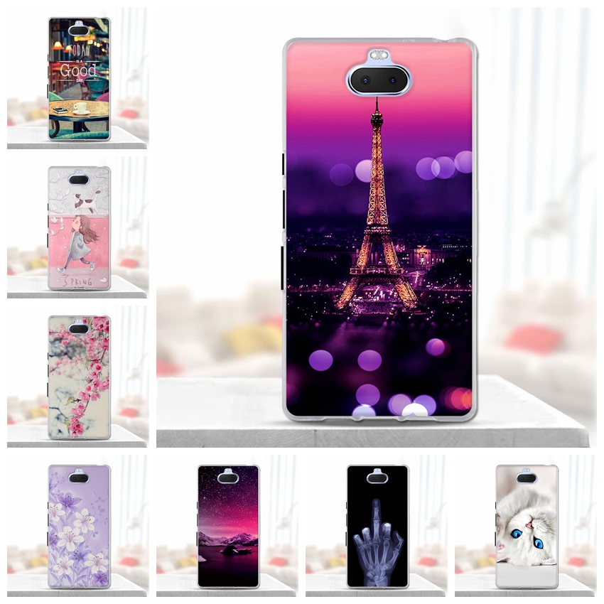 For Fundas <font><b>Sony</b></font> Xperia 10 <font><b>Case</b></font> Cover for <font><b>Sony</b></font> <font><b>Xperia10</b></font> <font><b>Case</b></font> Soft Silicone 3d Cute Ultra-thin Back Cover for <font><b>Sony</b></font> Xperia 10 <font><b>Cases</b></font> image