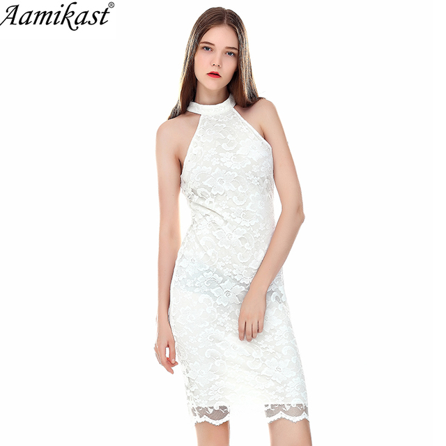 Aamikast Sexy Lace See Through Mesh High Waist Fashion Womens Ladies Slim  Cool Chic Casual Party Evening Bodycon Dres 009568ce7dc2