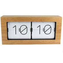 Изысканные Деревянные бамбуковые автоматически перекидные часы, пасторальные часы для украшения дома