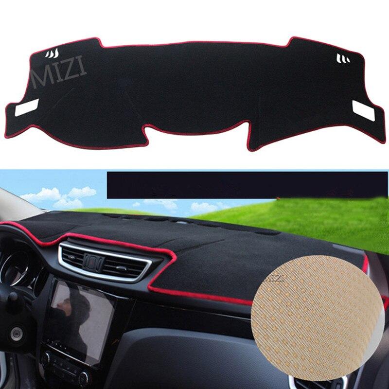 For Nissan Qashqai J11 2nd 2014 2015 2016 2017 Car Dashboard Cover LHD Dashmat Pad Sun Shade Dash Board Cover Anti-slip Carpet