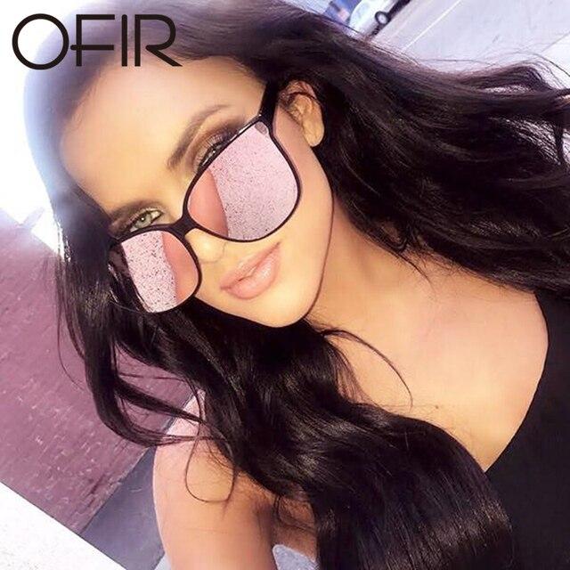 607281289ebe6 OFIR Women s Korea Sunglasses Brand Designer Flat Lens New Cat Eye Sun  Glasses Woman Eyewear Rose Gold Cat Eye Clear UV400