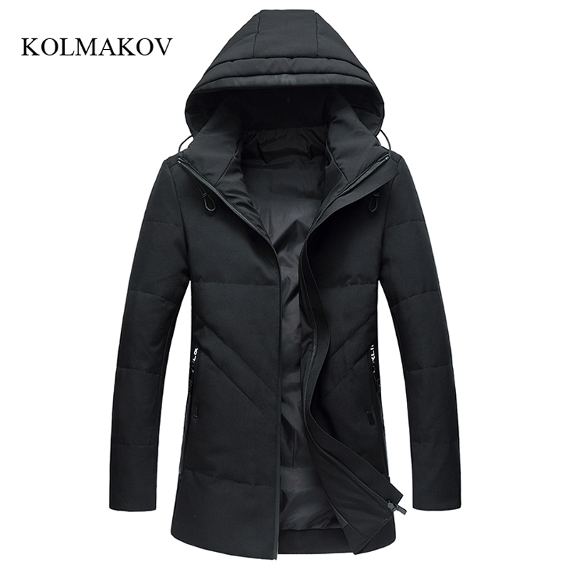 2017 new arrival winter style men boutique   down     coats   business casual zippers trench   coat   men's solid long overcoa size L-4XL