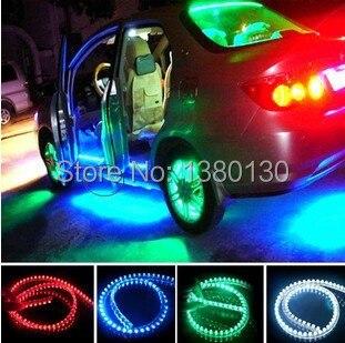 2x White 48-LED Side Headlight Daytime Running DRL Driving Strips Shine Lights