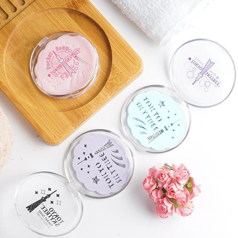 24Pcs Portable Washing Hand Bath Travel Scented Slice Ourdoor Bath Soap Paper Sheets Convenient Foaming Box Paper Soap With Box