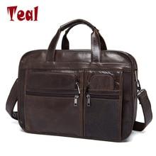 2017 нови мъжки куфарче за мъже от естествена кожа мъжки куфар за лаптоп мъжки лаптопи дизайнерски луд конски мъжки чанта
