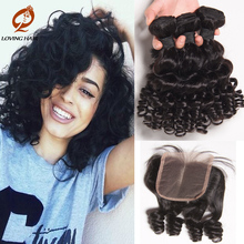 Indian Human Hair Summer Short Bob Curly Hair 3Bundle With Lace Closure Sexy Formula Grace Hair Products Ear To Ear Grey Closure