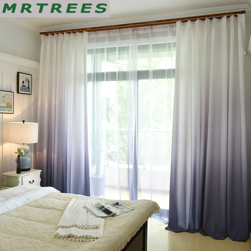 US $6.5 57% OFF|MRTREES 3d Printed Blackout Curtains Gradient Color Window  Curtains Treatment for Living room kitchen Bedroom Curtains Drapes-in ...