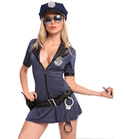 Sex Police Costume Hottie Police Women Dresses Sexy Lingerie Plus Size XXL XXXL Cosplay Uniform