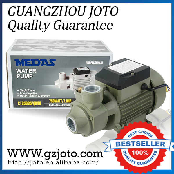 QB-80 Electric Clean Water Pump 50HZ/220V Horizontal Centrifugal Water Pump barrow double s series 240mm high density double wave copper water cooler