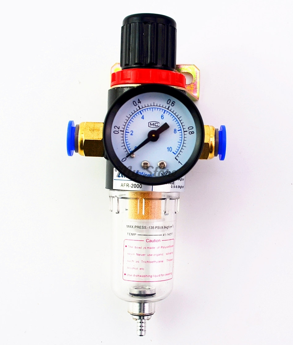 AFR2000 Air Pressure Regulator Water Separator Trap Filter Airbrush Compressor with Fittings ophir pressure gauge airbrush filter air pressure regulator oil water separator trap filter airbrush compressor kit ac010