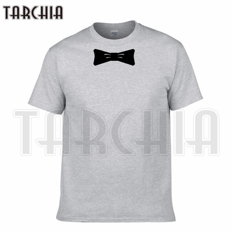 TARCHIA 2018 new summer o-neck brand t-shirt cotton tops tees men bow short sleeve boy casual homme tshirt t plus fashion free