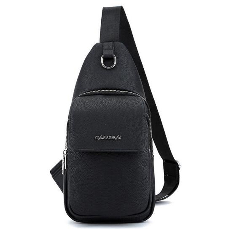 Young Men Chest Bags PU Leather Bags Messenger Shoulder Bag Male Crossbody For Work School Bags Mochila