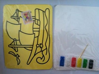 """200 шт./лот, игрушки """"Сделай своими руками"""", раскраска на основе песчаной живописи комплект для детей 21*15 cm смешанные конструкции японский Рисование песком"""