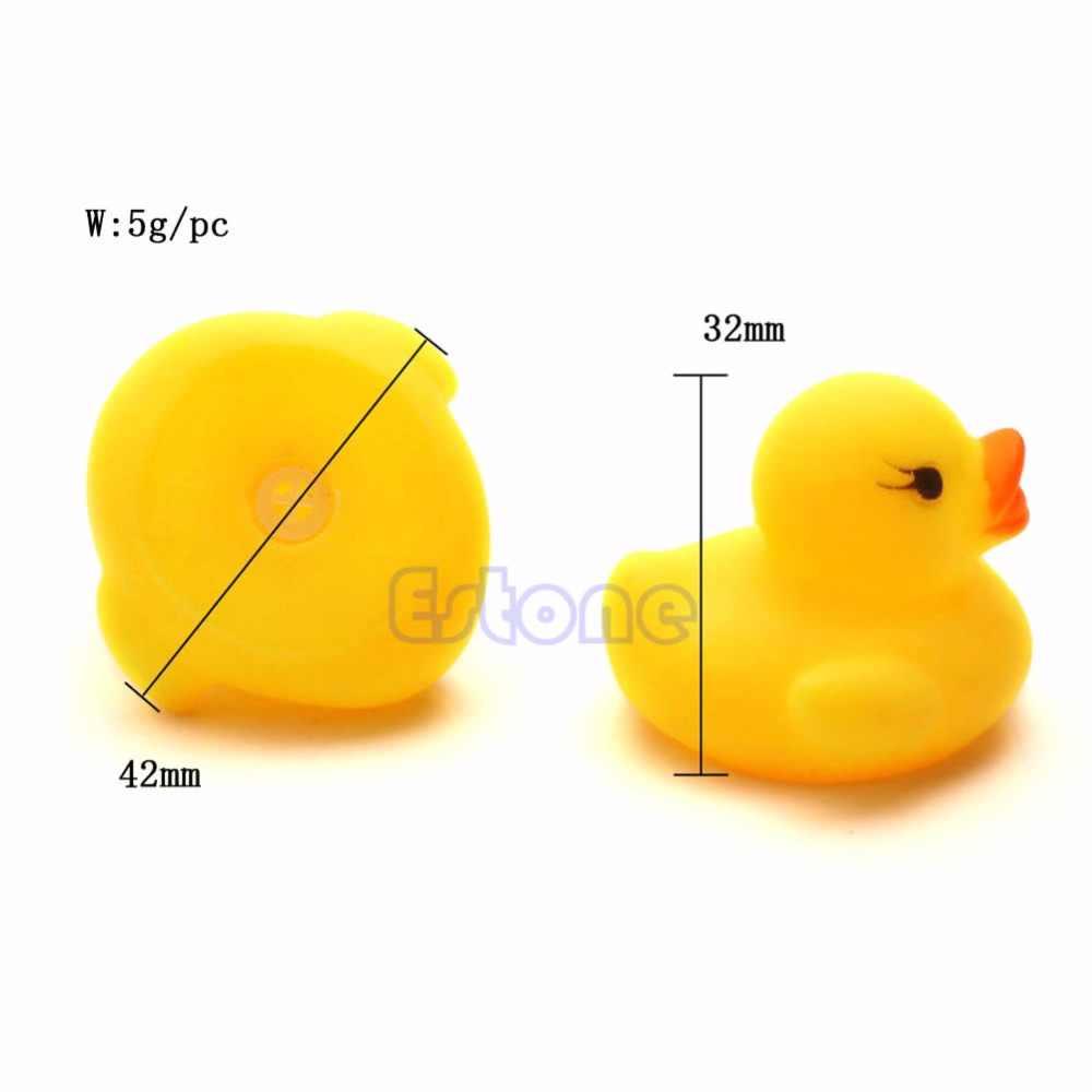20 шт. Детские Игрушки для ванной Симпатичные резиновые гонка скрипучий Утка Даки желтый