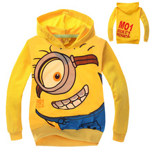 boys clothes despicable me 2 minion child spring autumn hoodies Tops Tees cartoon minions Sweater T shirt baby boy clothes