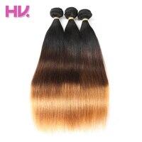Cheveux Villa Ombre Brésilien Vierge Cheveux Raides 1 Pc Ombre de Cheveux Humains Bundles pour Salon Faible Ratio Plus Longs Cheveux PCT15 % 1B/4/30