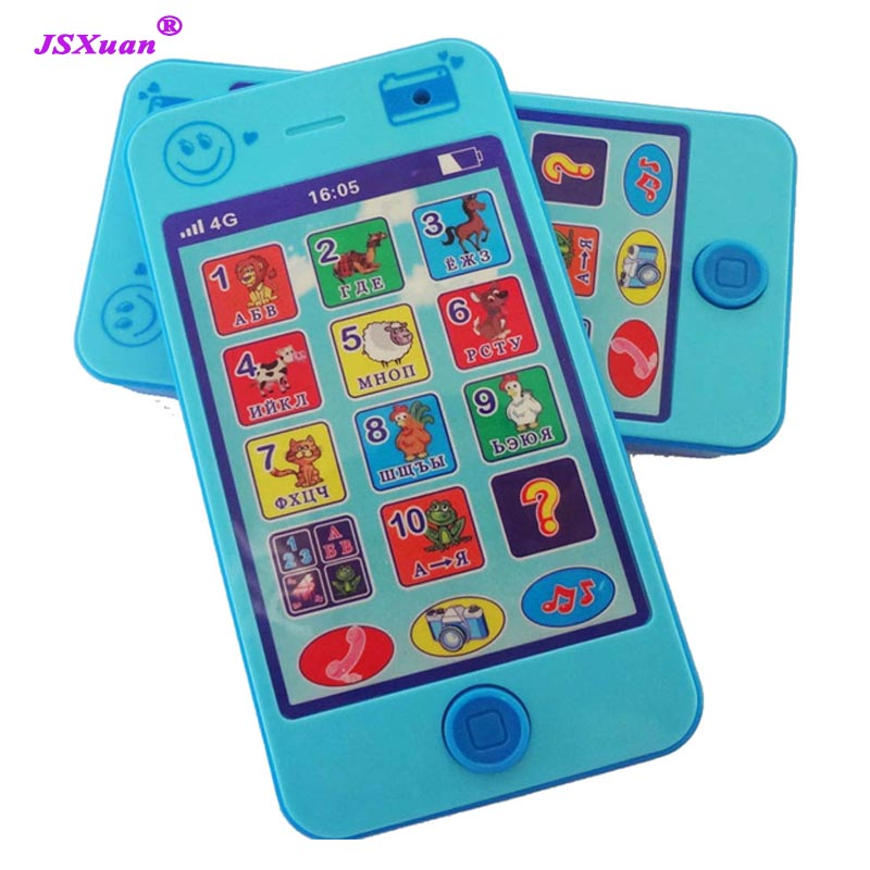 JSXuan Russian Language Kids Phone Children's Educational Simulationp Music Mobile Toy Phone Latest Version Of  Baby Toy Gift