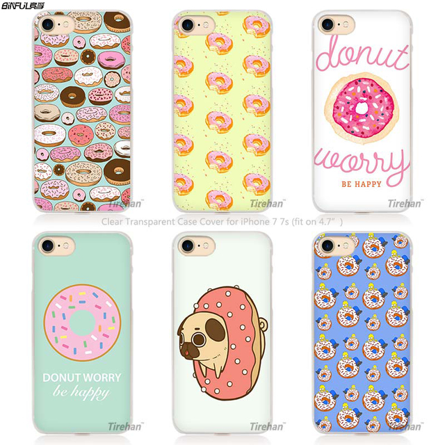 BiNFUL donut pays des merveilles de Style Dur Transparent Phone Case Cover Coque pour Apple iPhone 640x640