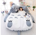 Japanese Anime Gray My Neighbor Totoro Plush Bed 210cm X 170cm  Stuffed Totoro Sleeping Bag Cute Tatami  Sofa