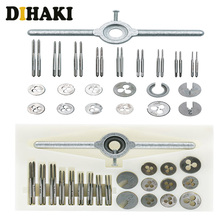 31pcs/set Mini HSS Metric Tap Dies Thread Wrench Handle Tap Set Die Spanner M1 to M2.5 Screw Dies model making hand tools 12pcs set hardware tools tap wrench hand tapping cutter dies metric group 2017 limited time limited carbon steel ratchet