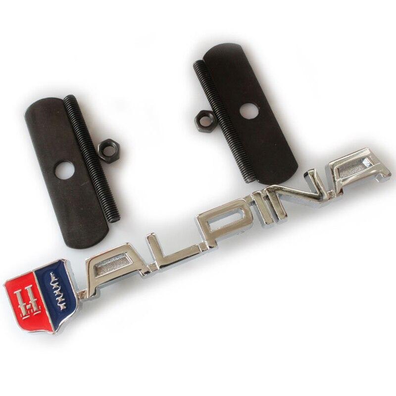 Car-Styling Metal ALPINA Grill Badge Logo Front Head Hood Creative Car Sticker Automobile Accessories alpina al 525n4e6