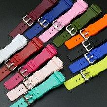 Accessories for Casio G-SHOCK Strap GMA-S120MF S110MF S130 Women's Watch Resin Black Strap casio g shock gma s110vc 3a