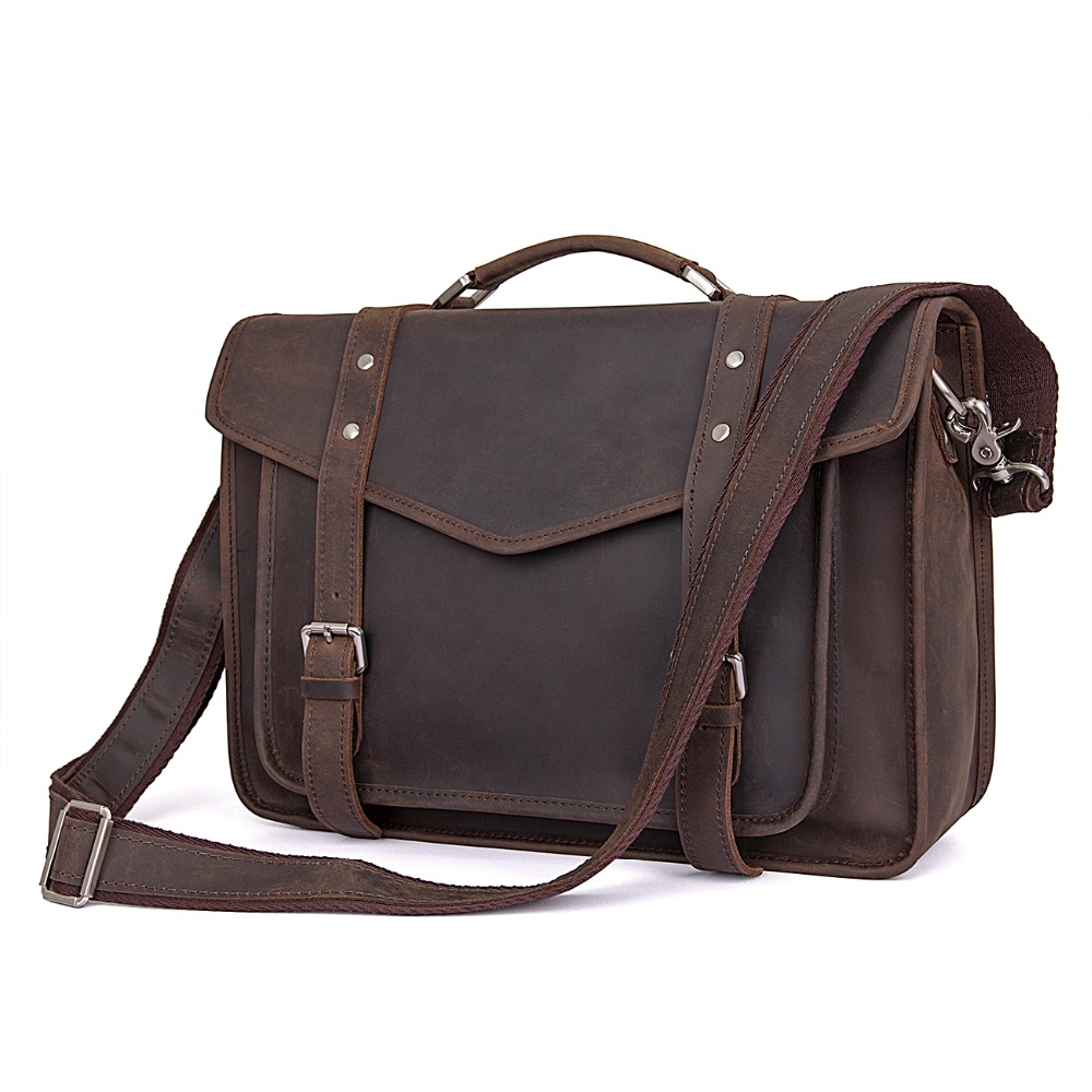 J.M.D J.M.D Top Grade Crazy Horse Leather Handbag Vintage Mesenger Bag Fashional Shoulder Bag Cross Body Bag 7377R