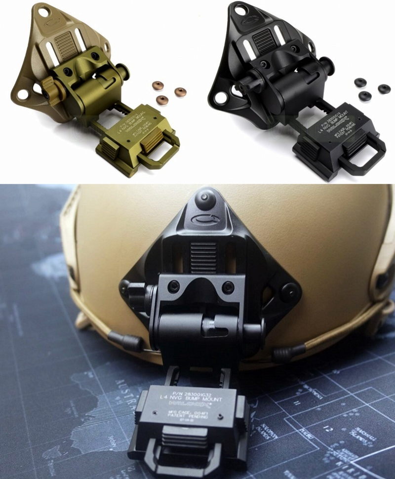 CQC Aluminum L4G19 Airsoft Tactical Helmet NVG Mount Helmet Shroud For Night Vision Goggle AN/PVS-7 14 15 18 21 militech coyote brown cb color aluminum shroud marsoc warcom night vision 3 holes goggle mount base nvg ops core skeleton shroud