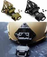 CQC อลูมิเนียม L4G19 Airsoft ยุทธวิธีหมวกกันน็อก NVG Mount Helmet Shroud สำหรับ Night Vision Goggle AN/PVS-7 14 15 18 21